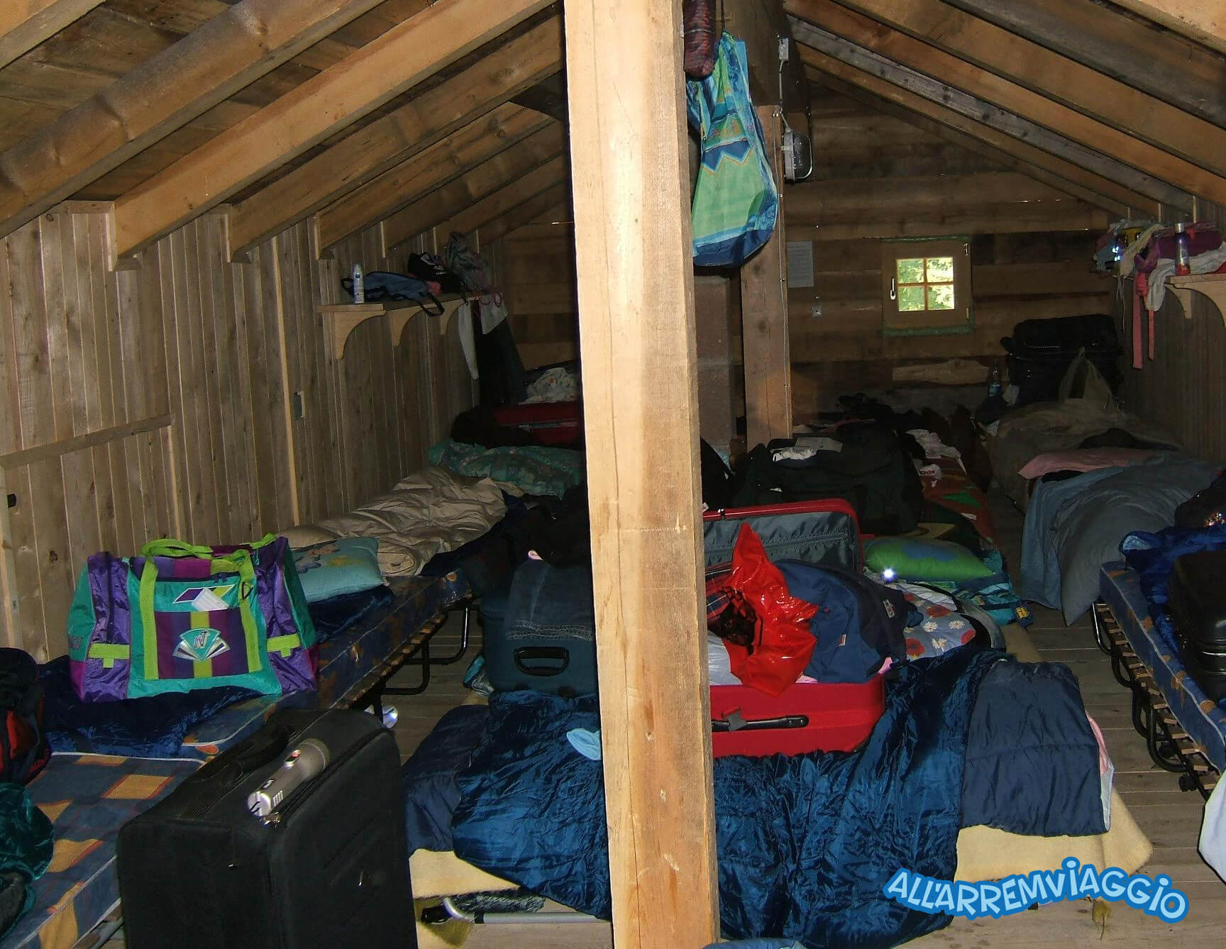 dormire in una baita di montagna