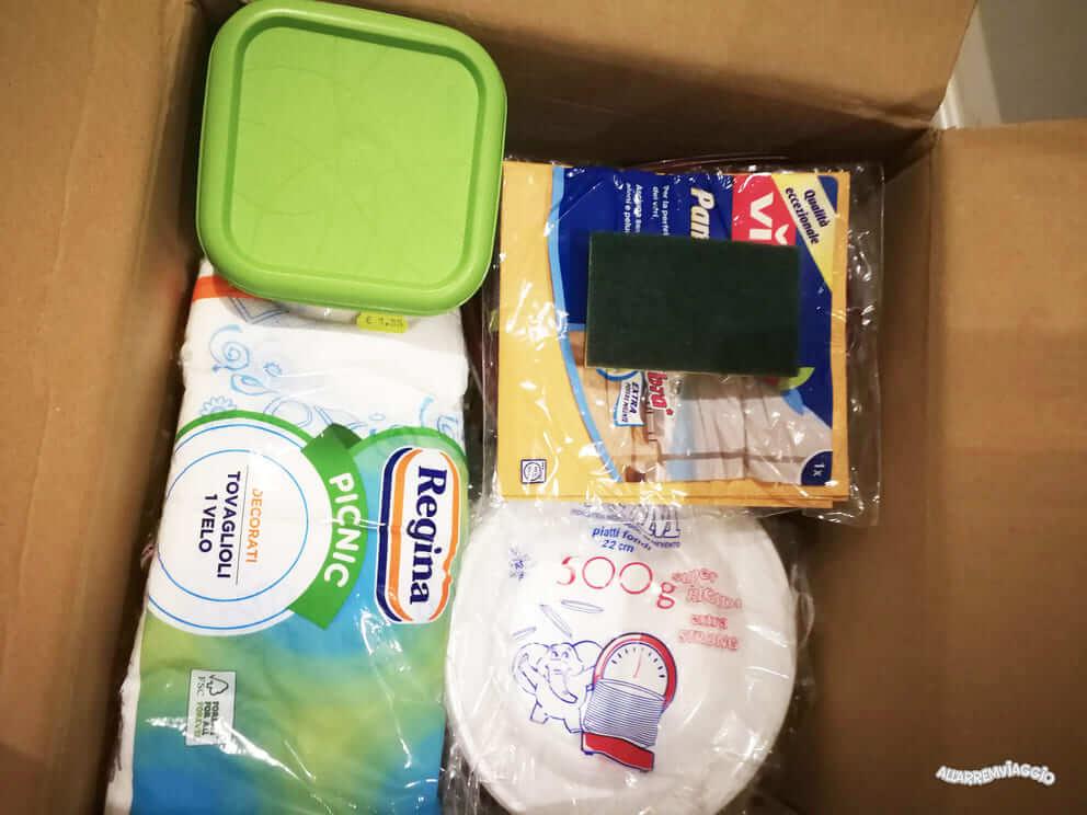 scatole per organizzare camper a noleggio