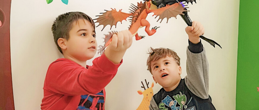 itinerario tematico bambini draghi