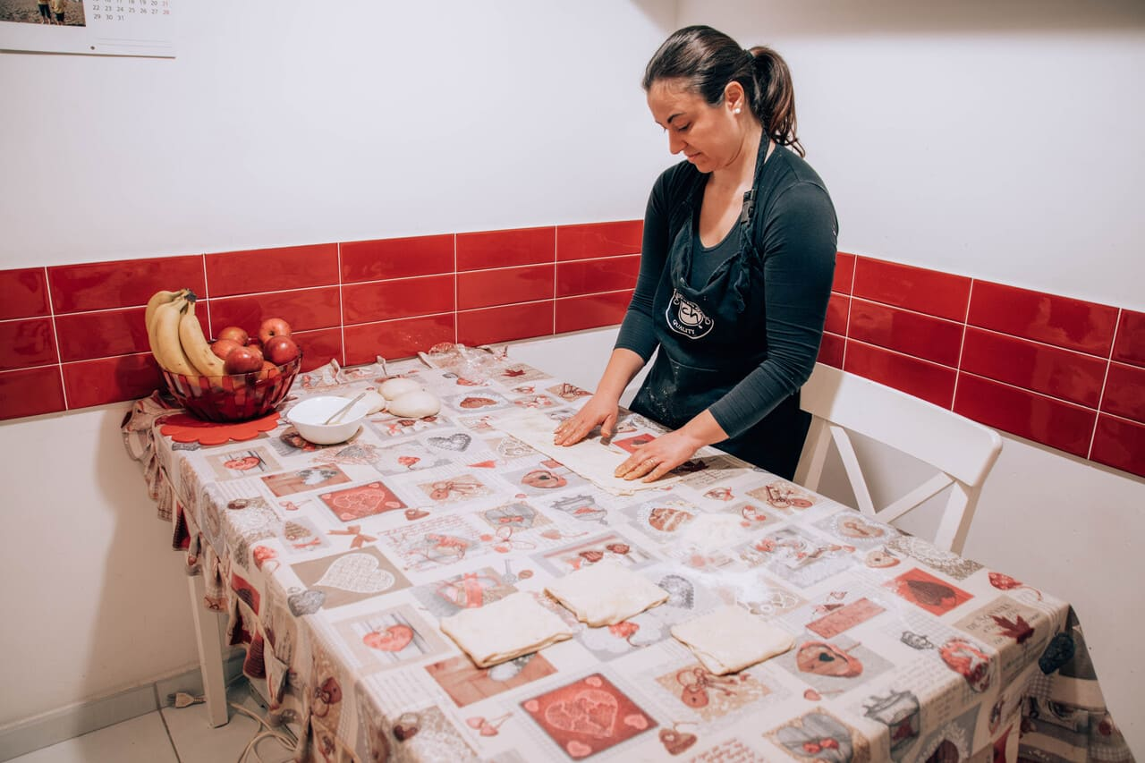 piegatura pasta msemen marocchini