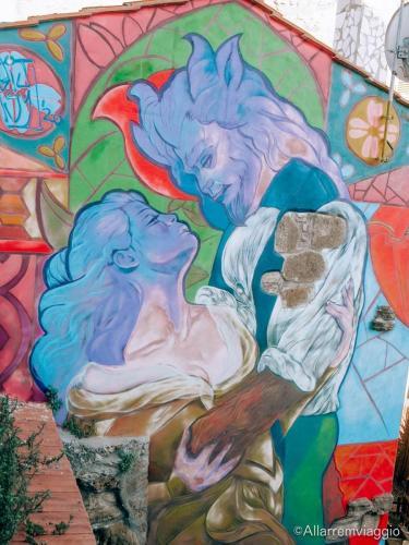 murales la bella e la bestia