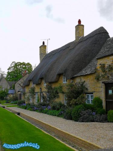 Tipiche case con tetto di paglia