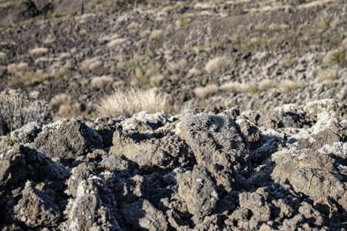 particolare roccia lavica vesuvio
